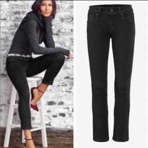 Cabi crop jeans black denim. Size 4